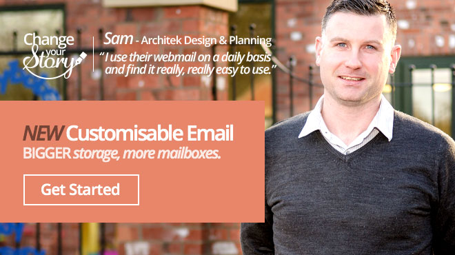 Customisable email hosting