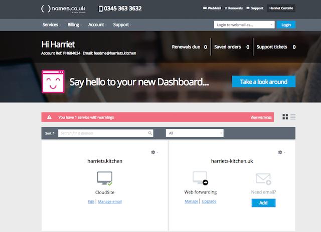 Online Control Panel Dashboard