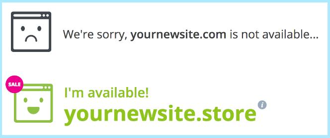 .store domain availability