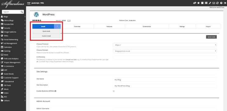 Step 4 – Choose quick or custom install