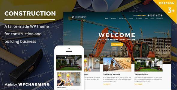WordPress theme - Construction