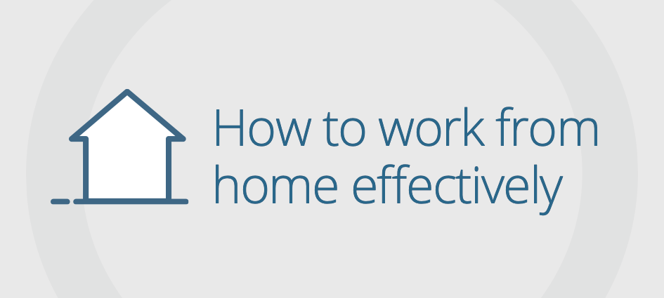Working more effectively from home